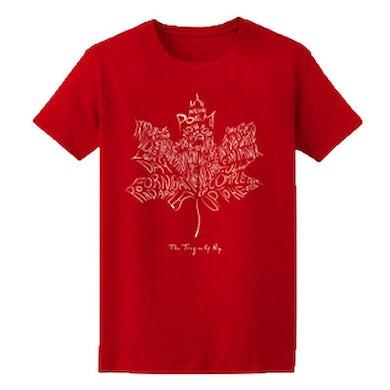 THE TRAGICALLY HIP Leaf Album Red T-Shirt