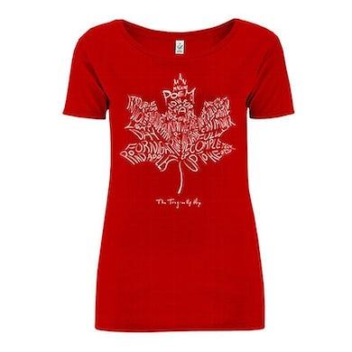 THE TRAGICALLY HIP Ladies Leaf Album Red T-Shirt