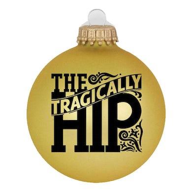 THE TRAGICALLY HIP Floral Logo Gold Ornament