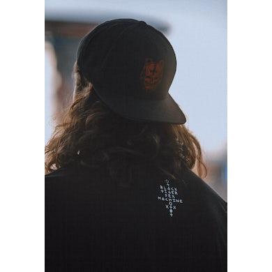 Black Tiger Sex Machine BTSM - Embroidered Red Skull Logo Snapback Hat