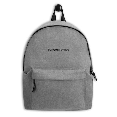 Conquer Divide Embroidered Backpack
