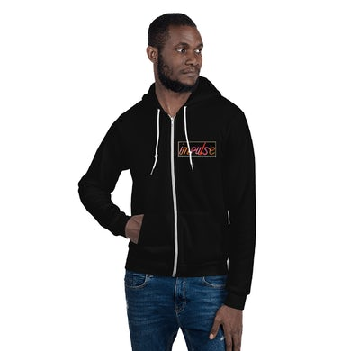 Black Impulse! Records Neon Logo Zip Up Sweatshirt