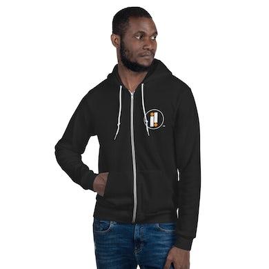 Black Impulse! Records Iconic Double II Zip Up Sweatshirt