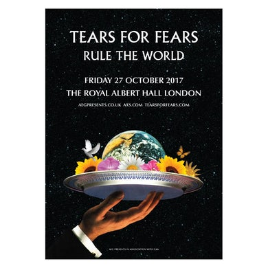 TEARS FOR FEARS 2017 ROYAL ALBERT HALL TOUR POSTER