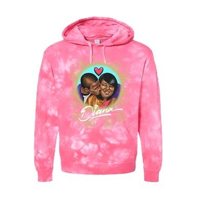 Famous Dex Diana Hoodie - Pink Tie Dye