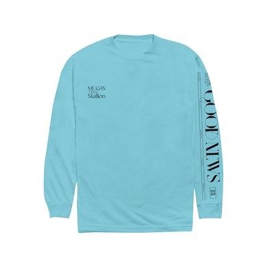 Megan Thee Stallion Good News Blue Long Sleeve Shirt