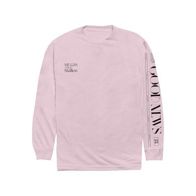 Megan Thee Stallion Good News Pink Long Sleeve Shirt