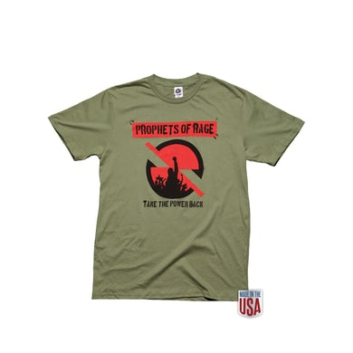 Prophets Of Rage Olive Green SS-Take The Power Back