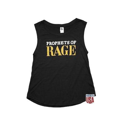 Prophets Of Rage Black Women's Sleeveless-Gold Admat