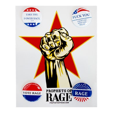 Prophets Of Rage Button Set-Make America Rage Again