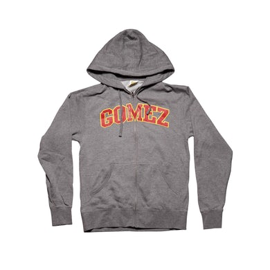 Gomez Grey Hoodie-University Logo
