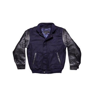 Crosby, Stills & Nash Blue Letterman's Jacket-Wool/Leather