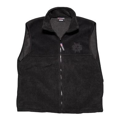 Crosby, Stills & Nash Black Fleece Vest-Initials Logo