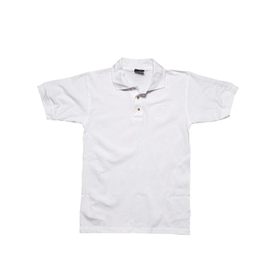 White Polo-Embroidered Logo