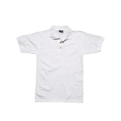 Crosby, Stills & Nash White Polo-Embroidered Logo