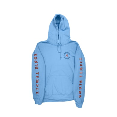 The Cult Carolina Blue Hoodie-Sonic Temple Pullover