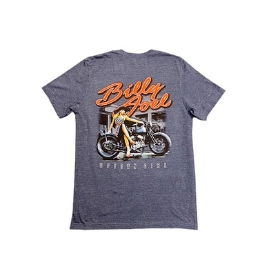 "Billy Joel Heather Navy SS-""Uptown Girl/ Motorcycle"""