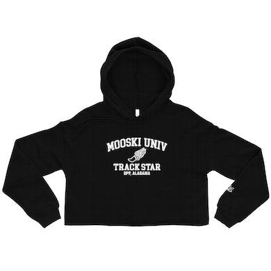 University Track Star Cropped Hoodie