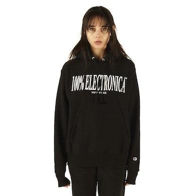100% Electronica Champion® Logo Hoodie Black - SS20