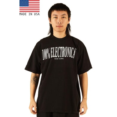 100% Electronica Black Oversized™ Tee - SS20
