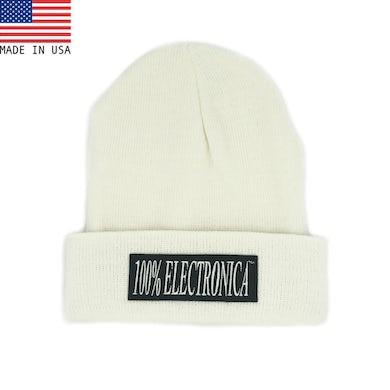100% Electronica Beanie - White - FW20/21