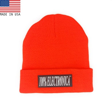 100% Electronica Beanie - Neon Orange - FW20/21