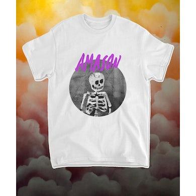 AMASON T-shirt Skelett vit