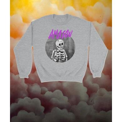AMASON Sweatshirt Skelett grå