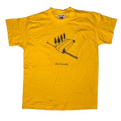 Jose Gonzalez Forest Road T-shirt Yellow
