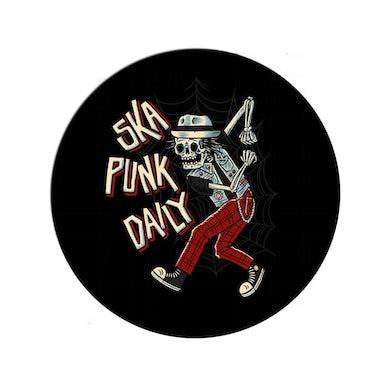 "Road Dog Merch Ska Punk Daily ""Skanking Bones"" 1 inch Pin"