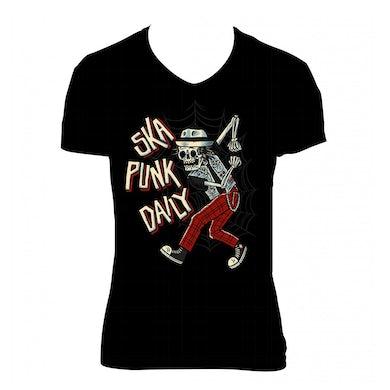 "Road Dog Merch Ska Punk Daily ""Skanking Bones"" Shirt (Woman)"