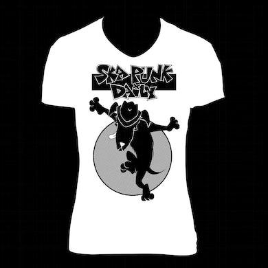 """Road Dog Merch Ska Punk Daily """"Dog Skanking"""" Shirt (Woman)"""