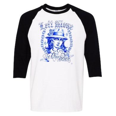 "Left Alone ""Te Quiero Ver""Baseball Shirt Black Sleeve"