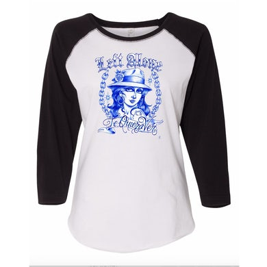 "Left Alone ""Te Quiero Ver"" Women Baseball Black Sleeve Shirt"