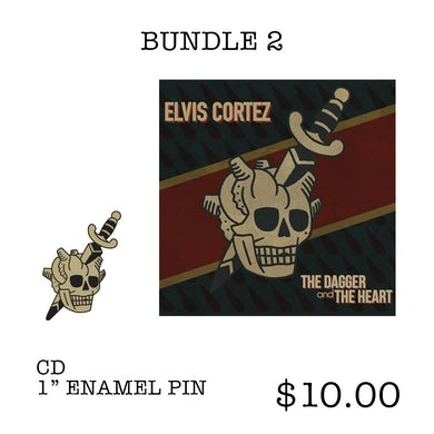 "Elvis Cortez ""The Dagger and The Heart"" CD EP & Pin Bundle 2"