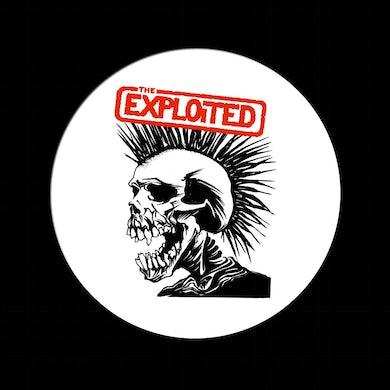"The Exploited ""Pushead Skull' White Pin"