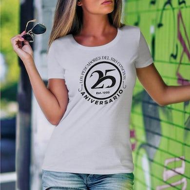 Los Pescadores Del Rio Conchos Ladies 25 Anniversary T-Shirt Pescadores