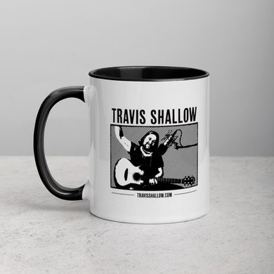 Travis Shallow Mug with Color Inside