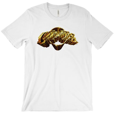 The Commodores Classic Logo T-Shirt (White / Gold)