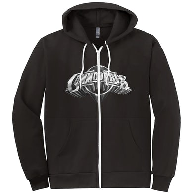 The Commodores Classic Logo Zip-Up Hoodie (Black / Silver)