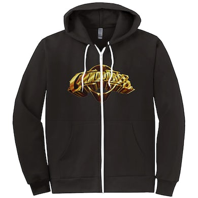 The Commodores Classic Logo Zip-Up Hoodie (Black / Gold)