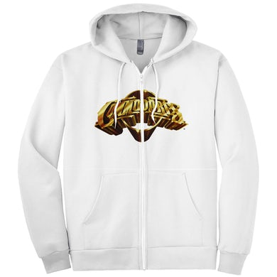 The Commodores Classic Logo Zip-Up Hoodie (White / Gold)