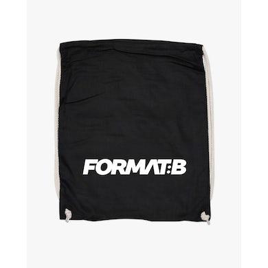 Format:B Turnbeutel in schwarz