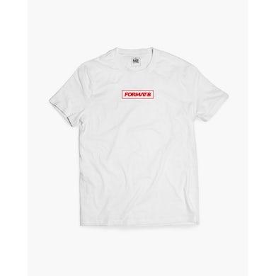 Format:B Box T-Shirt in weiß