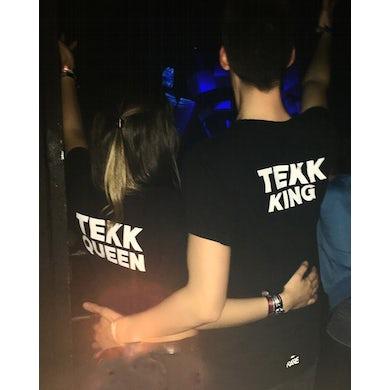 Rave Clothing Tekk King & Queen Couple T-Shirt & Crop Top in schwarz