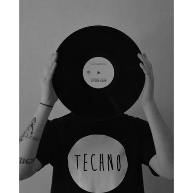 Rave Clothing Techno T-Shirt in schwarz