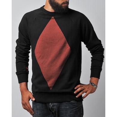 Pullover in schwarz rot