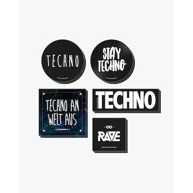 Rave Clothing Techno Sticker Set