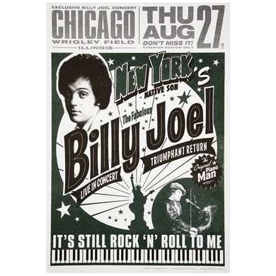 Billy Joel Poster-8/27/15 Chicago, IL