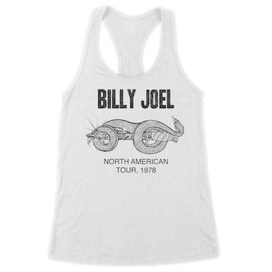 Billy Joel White Women's Racerback Tank, Snake and Dagger